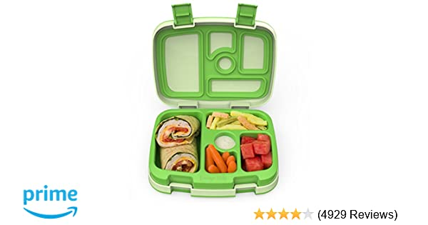 77a23fcf083f Amazon.com  Bentgo Kids Childrens Lunch Box - Bento-Styled Lunch Solution  Offers Durable