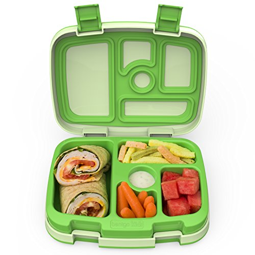 Bentgo Kids Childrens Lunch Box - Bento-Styled Lunch Solution Offers Durable, Leak-Proof, On-the-Go Meal and Snack Packing (Red Pottery Barn)