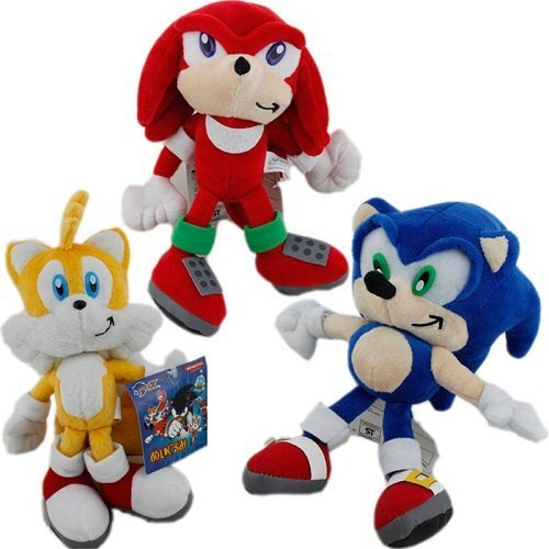 Sonic the Hedgehog Plush 8.2 Inch / 20cm Sonic Tails Knuckles 3pcs Doll Stuffed Animals Figure Soft Anime Collection (Knuckles Sonic The Hedgehog)