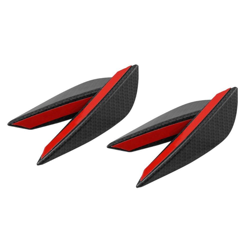 Zhuotop 4pcs in fibra di carbonio auto SUV paraurti anteriore corpo Canards Splitters pinne lip kit