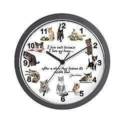 CafePress Wall Clock Cat Lovers Unique Decorative 10 Wall Clock