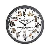 CafePress – WALL CLOCK – Cat Lovers – Unique Decorative 10″ Wall Clock Review