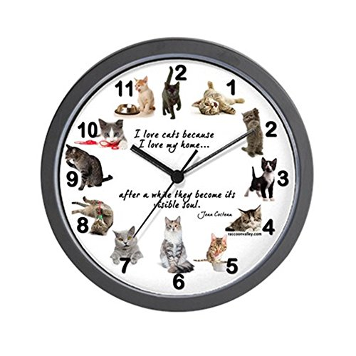 - CafePress - WALL CLOCK - Cat Lovers - Unique Decorative 10
