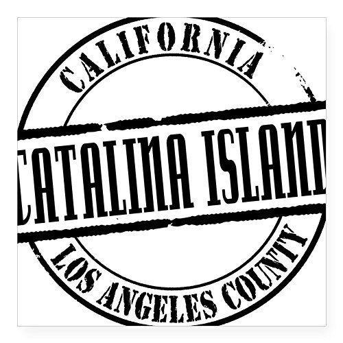 CafePress - Catalina Island Title W Square Sticker 3