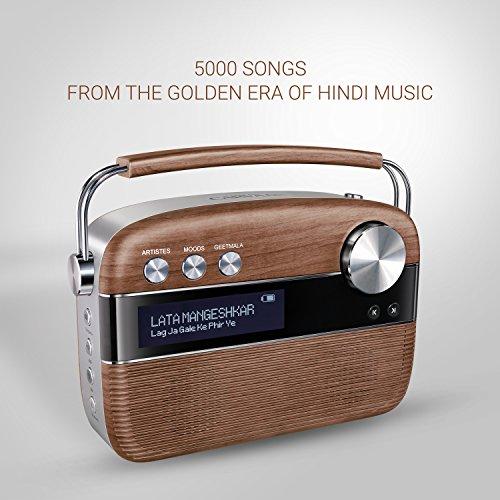 Saregama Carvaan Portable Digital Music Player (Oak Wood Brown)