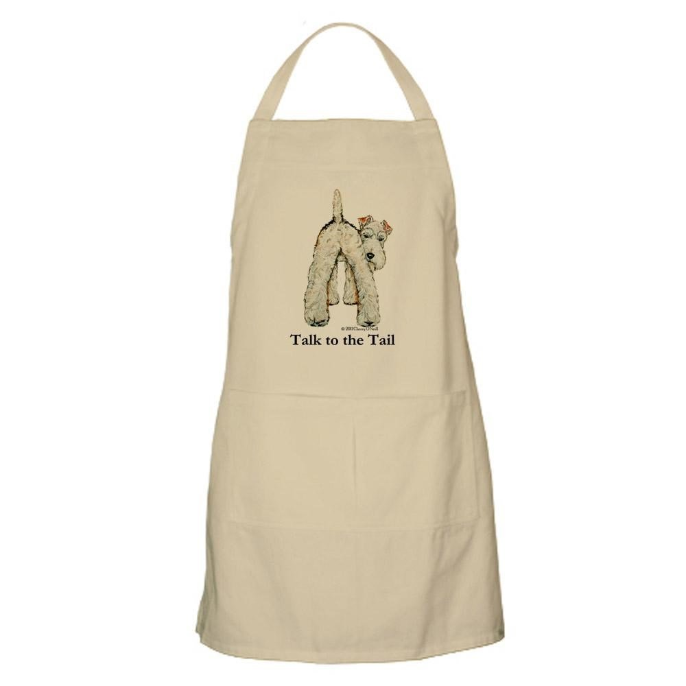CafePress - Wire Fox Terrier Tail WFT Apron - Kitchen Apron with Pockets