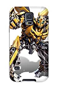 Galaxy S5 Hard Back With Bumper Silicone Gel Tpu Case Cover Transformers 2 Hd