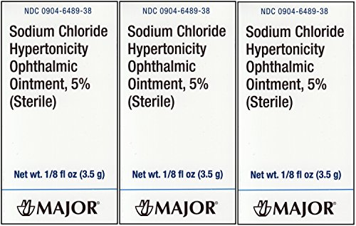 Generic Ointment (Sodium Chloride 5% Ophthalmic Ointment 0 .12 oz. (3.5 Gm) per Tube Generic for Muro 128 PACK of 3 Tubes)