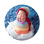 Newborn Baby Photo Props Wrap Cloth Blanket for Boys Girls Photography Shoot (Rainbow)