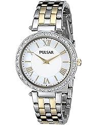 Pulsar Womens PM2123 Analog Display Japanese Quartz Two Tone Watch