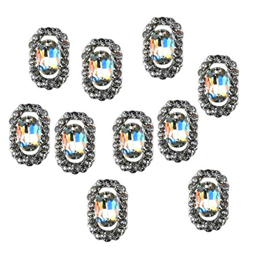 (10pcs 3D Rhinestones Crystal Diamond Charms Tips DIY Nail Art Decoration (Style - b))