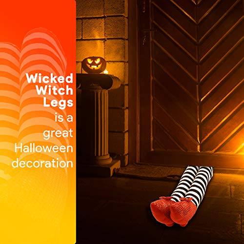 Skeleteen Wicked Witch Legs Prop - Crushed Witches Feet with Ruby Slippers Yard Decoration Props for - http://coolthings.us