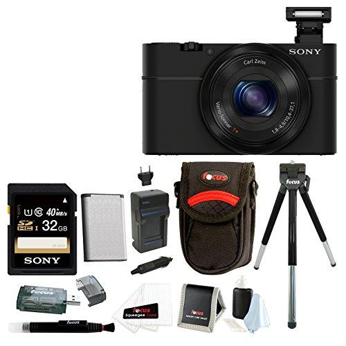 Sony Cyber-shot DSC-RX100 Digital Camera (Black) with 32G...
