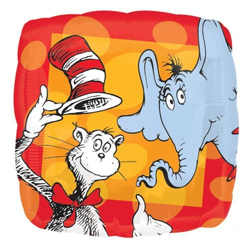 Anagram 34680 Dr. Seuss Cat In The Hat Foil Balloon, 18