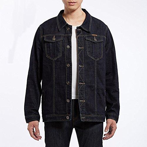 Unlined Jean Jacket - WEEN CHARM Men's Unlined Casual Vintage Regular Fit Denim Biker Trucker Jacket Rigid Two