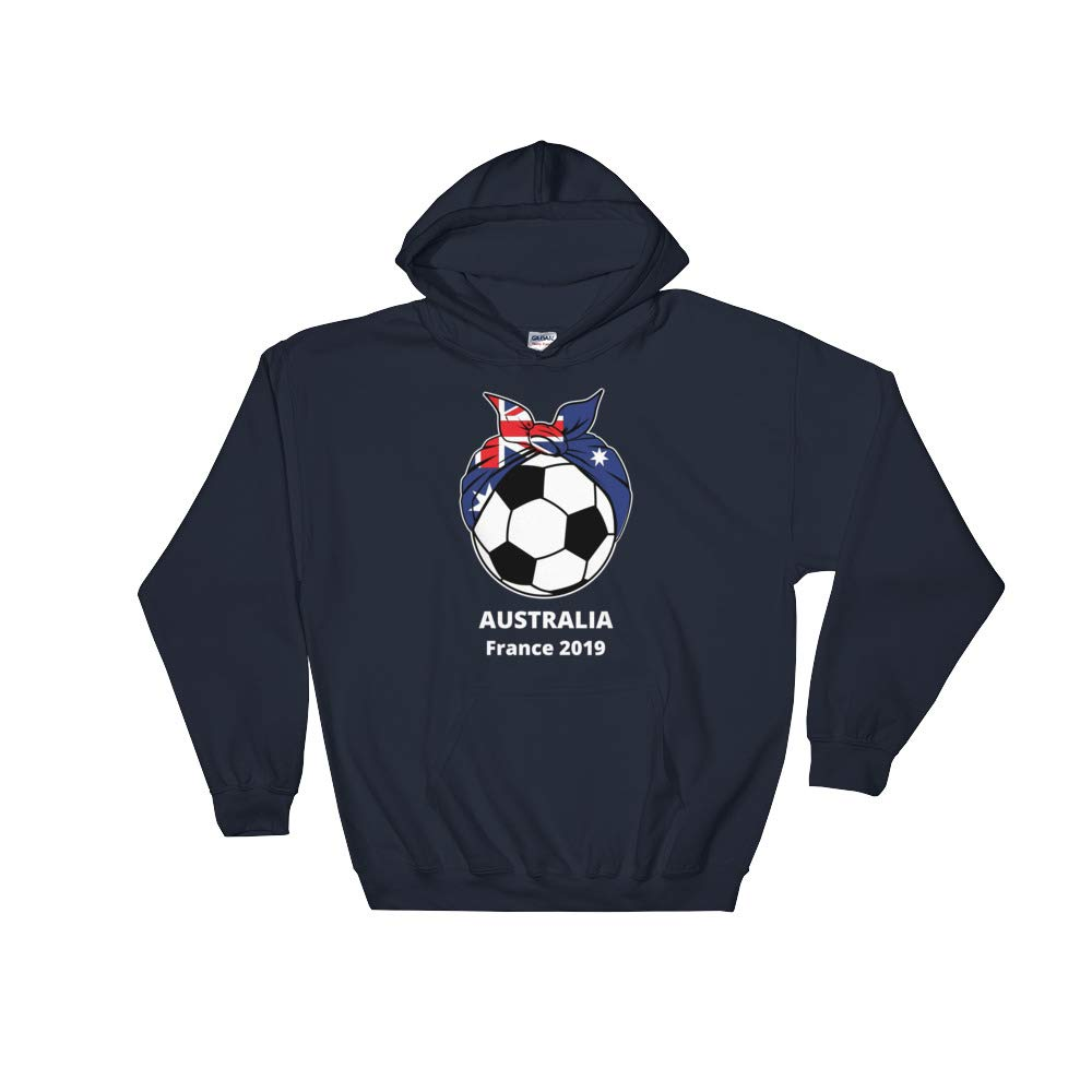 Amazingly Good Products Australia Womens Soccer Kit France 2019 Girls Football Unisex Hooded Sweatshirt