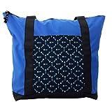 Lunarable Dark Blue Shoulder Bag, Polygonal Ocean Swim, Durable with Zipper