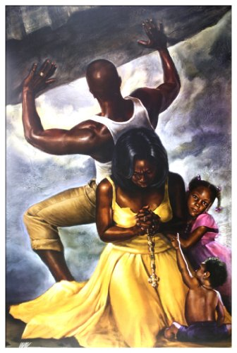 Behind Every Great Man By WAK Kevin A. Williams 24x36 Black Art Print Poster African-American (Behind Every Great Man By Kevin Wak Williams)