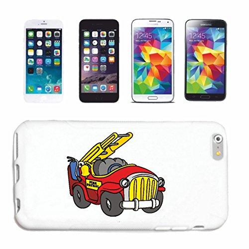 """cas de téléphone iPhone 6+ Plus """"CAR FIRE FUNNY AVEC ROTATION ET TÊTE EXTINCTEURS POMPIER Fire Company VOLONTAIRE POMPIER FFW INSERT HEAD PROFESSIONNEL FIRE STATION D' INCENDIE"""" Hard Case Cover Téléph"""