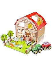 New Classic Toys Wooden Farm House Playset