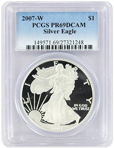 2007 W American Silver Eagle Dollar PR69DCAM PCGS