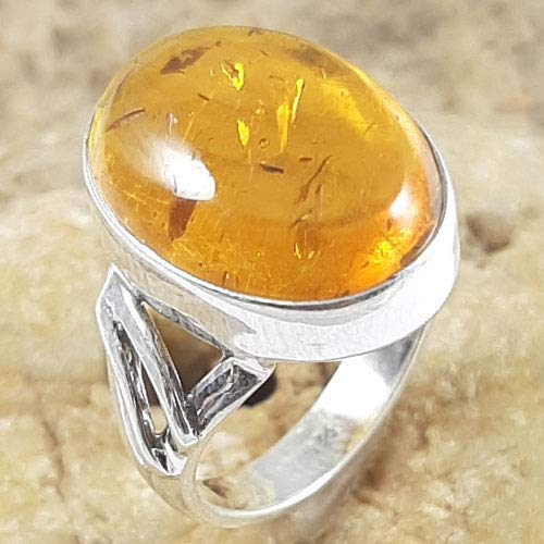Solid 925 Sterling Silver jewelry Gemstone Handmade Ring for Women