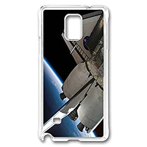VUTTOO Rugged Samsung Galaxy Note 4 Case, NASA Shuttle in Orbit PC Case Cover for Samsung Galaxy Note 4 N9100 Transparent
