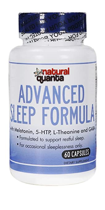 Advanced Sleep Formula with Melatonin, 5-HTP, L-Theanine and GABA 60 Capsules