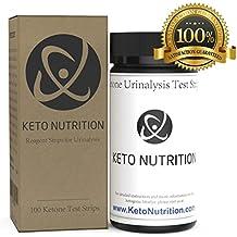 Ketone Strips by Keto Nutrition: Ketogenic Test Strips - 100 Professional Grade Urine Ketosis Testing Sticks for Ketogenic Diet, Diabetics, Paleo, Low Carb. Test Kit Measures Ketosis Fat Burning Level