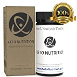 Ketone Strips by Keto Nutrition: Ketogenic Test Strips - 100 Professional Grade Urine Ketosis Testing Sticks for Ketogenic Diet, Diabetics, Paleo, Low Carb. Test Kit Measures Ketosis Fat Burning Level