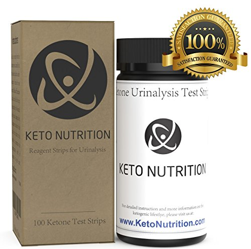Keto Nutrition Ketogenic Test Ketone Strips - 100 Professional Grade Urinalysis Ketosis Testing Sticks for Ketogenic Diet, Paleo, Atkins Low Carb. Keto Strip Kit Measure Fat Burning Ketone Production.