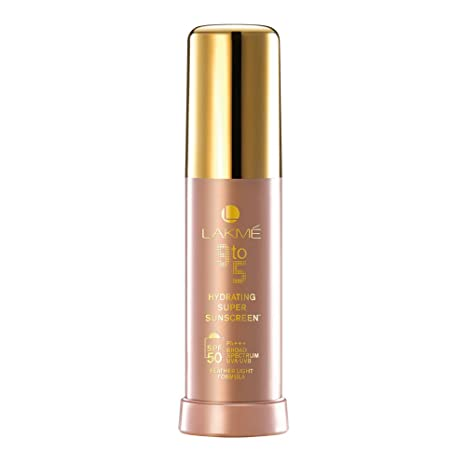 Image result for Lakme 9 to 5 Hydrating Super Sunscreen SPF 50