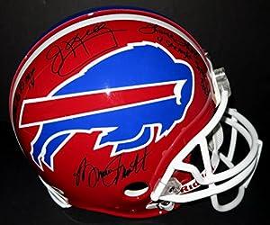 Bruce Smith, Marv Levy, Thurman Thomas, & Jim Kelly Autographed Buffalo Bills Proline Helmet