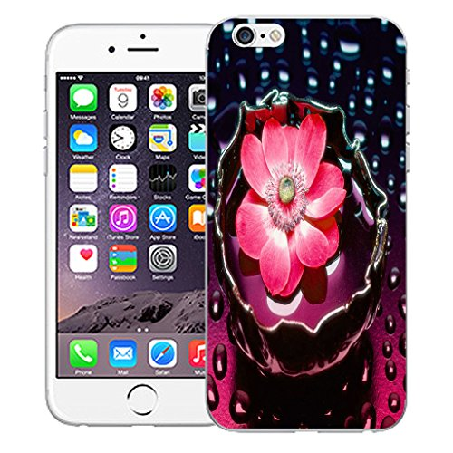 """Mobile Case Mate iPhone 6 Plus 5.5"""" Silicone Coque couverture case cover Pare-chocs + STYLET - Pink Water Flower pattern (SILICON)"""