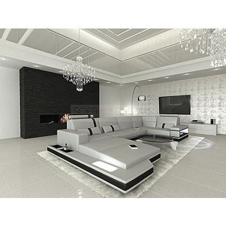 MEGA Conjunto de Muebles Para Salón messana forma de U Gris ...