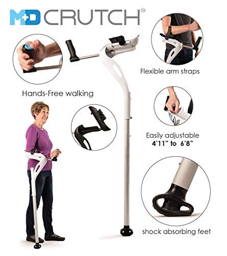 nds-free Ergonomic Crutch Left - White ()