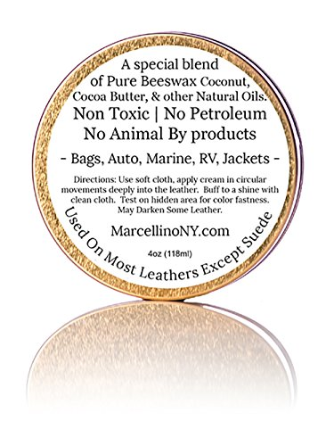 Leather Feed Conditioner | ALL NATURAL | No Animal By-Products | Non-Toxic Care | Marcellino NY | 4oz by Marcellino NY Leathercraft (Image #1)