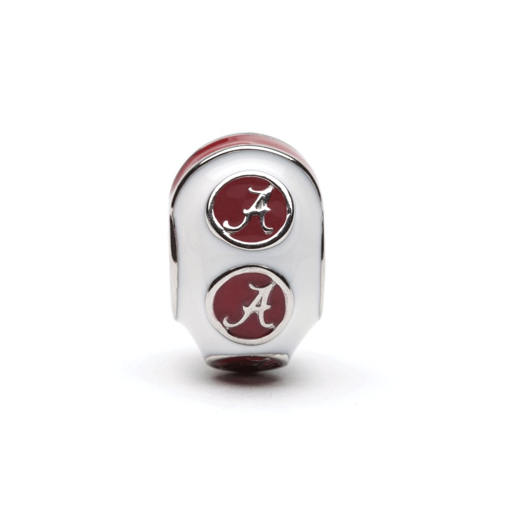 University of Alabama Charm Bracelet | Crimson Tide Gifts | Stainless Steel Alabama Jewelry | Alabama Logo Charm Bracelet by Stone Armory (Image #4)