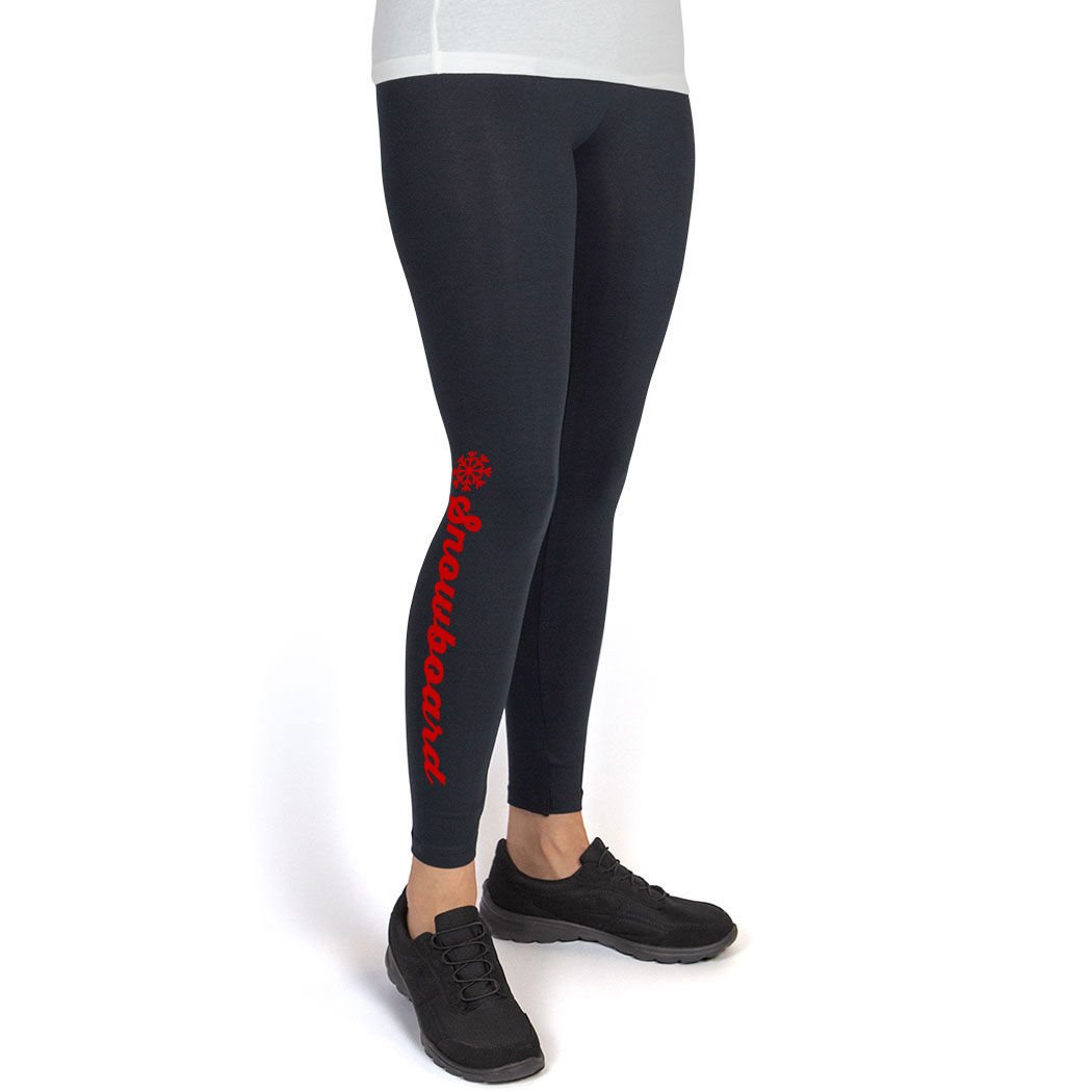 Multiple Colors Snowboarding Leggings by ChalkTalk SPORTS Snowboard Script with Snowflake Leggings Youth To Adult Sizes