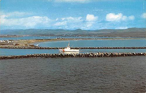 Military Battleship Postcard, Old Vintage Antique Military Ship Post Card Doran Park, Bodega Bay, California, USA Unused