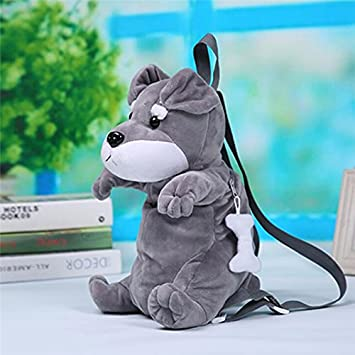 5cff96116d38 Amazon.com : pinnacleT1 3D Plush Animal Dog Backpack Baby Cute ...