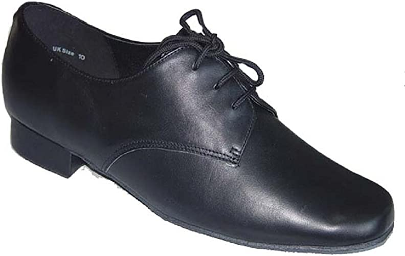 Men's Black Leather Dance Shoes for