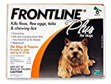 Merial Frontline Plus Flea and Tick Control for Dogs and Puppies 8 weeks or older and up to 22lbs, 6-Doses