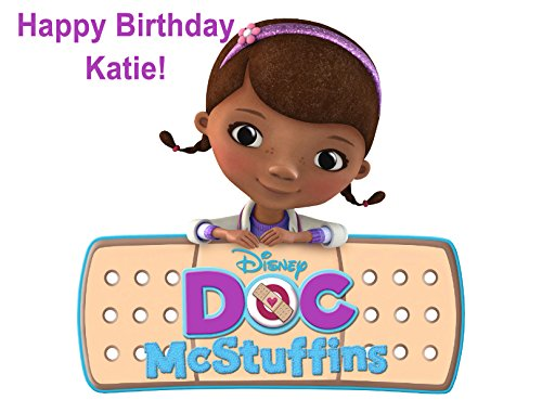 Doc McStuffins Personalized Edible Cake Image Birthday Party NIP for $<!--$8.07-->