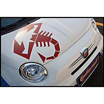 Amazon.com: Adhesivo de vinilo para ventana de coche Fiat ...