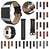 For Fitbit Ionic Bands,PrettyW Sports Two-color Leather Replacement Watch Bracelet Band Strap For Fitbit Ionic (15 PACK)