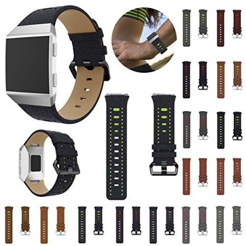 For Fitbit Ionic Bands,PrettyW Sports Two-color Leather Replacement Watch Bracelet Band Strap For Fitbit Ionic (15 PACK) by PrettyW