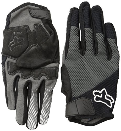 Fox Racing Reflex Gel Mountain Bike Gloves, Black, (Reflex Full Finger Gel)