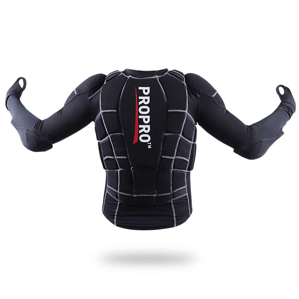 ストリートモトクロスATVソフトアーマーガードシャツジャケット、ネックガード保護ギア胸部保護服、高密度耐摩耗性スポーツジャケットシャツホッケー騎士ギア  XL