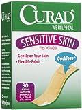 Curad Sensitive Skin Adhesive Bandages Regular Si